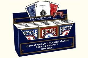 Bicycle Paquete de 12Tarjetas de Poker estándar (6Azul/6, Color Rojo)