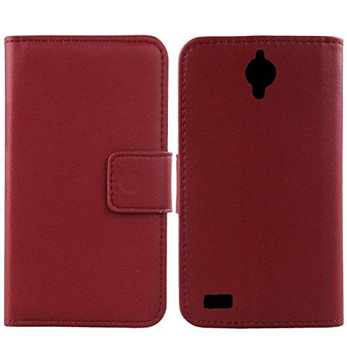 Gukas Design Echt Leder Tasche Für TP-LINK Neffos Y50 4.5