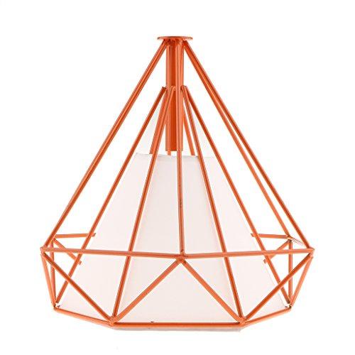 perfk Jaula Lámparas Ventiladores de Techo Decoración Colgante Jaula Lámpara de Araña...