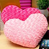 easyshop Rosa rosso a forma di cuore tiro letto cuscino peluche di San Valentino divano di casa arredamento regalo