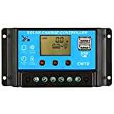 Anself 10A/20A 12V/24V LCD Solar Charge Controller with Current Display Function Auto Regulator