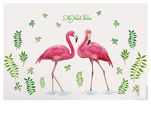 ohnzimmer Schlafzimmer Küche Kinderzimmer Studie Büro Sofa Hintergrund Wand Papier Aufkleber Flamingo Persönlichkeit Bar Ornament Tür Aufkleber Korridor Treppe Aufkleber ()