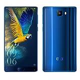 Elephone S8 4G Smartphone 6,0 pulgadas de pantalla completa y 2K de pantalla Android 7.1.1 con Helio X25 Deca Core 2.5D de vidrio curvado y 3D de vidrio curvado de vuelta 2.5GHz 4GB RAM + 64GB ROM 21.0MP Cámara Posterior 4001mAh Batería Dual SIM Dual Standby GPS WIFI OTG Bluetooth Fingerprint-Azul