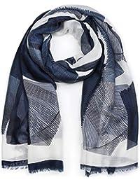 205af6c21b794b styleBREAKER Damen Schal mit grafischem Linien Muster und Fransen, Stola,  Tuch 01017095