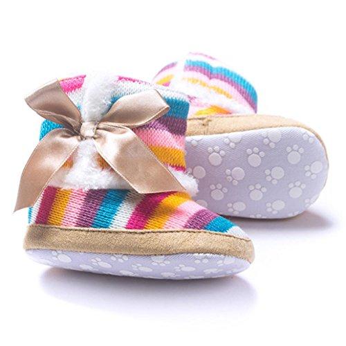 Für 0-18 Monate Baby,Baby Baby Schneestiefel Girl Rainbow weiche Sohle Multicolor