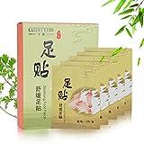 Paquete de 10 parches desintoxicantes vinagre de bambú parche de pie de jengibre parche para el cuidado de los pies eliminar las toxinas del cuerpo perdida de peso mientras usted duerme