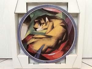 Goebel Artis Orbis Franz Marc Teller (Wandteller) aus Porzellan - Der Tiger - 32cm Durchmesser