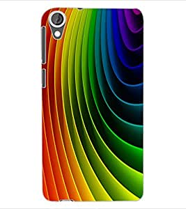 ColourCraft Colourful Pattern Design Back Case Cover for HTC DESIRE 820