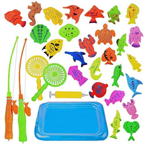 KidsHobby Magnete Angelspiel Wasserspiel Badewannenspielzeug Lernspiel für Kinder ab 3 Jahre