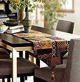 Artbisons Mesa de comedor hecha a mano Mesa Lino de mesa (183x33cm, Espejismo Caminos de mesa)