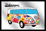 Close Up Spiegel VW Bulli Hippie VW Lizenz Wandspiegel