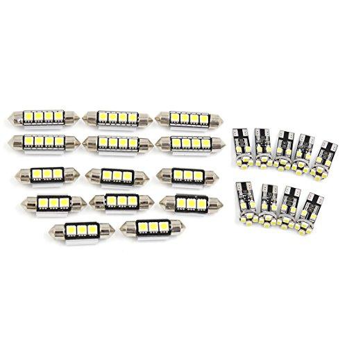 Preisvergleich Produktbild sourcingmap® 22x für BMW X5 E53 2001-2006 Canbus Weiß Auto Domlicht Kartenlicht Innenbeleuchtung Kit