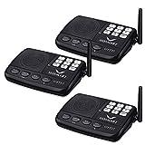 Wireless Intercom System Hosmart 1/2 Mile LONG RANGE 7-Kanal-Sicherheits-Funksprechanlage für Zuhause oder Büro(3 Stationen)