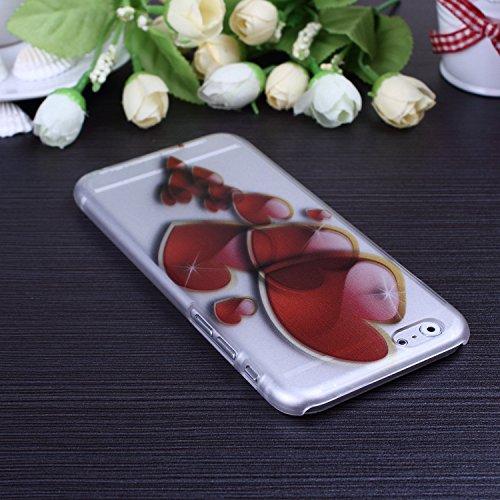 Hard Case Colorful mignon Fleurs Cartoon Papillon Conception de coeur givré mat en plastique pour iPhone 6S 6 ( Color : 7 , Size : IPhone 6S 6 ) 4