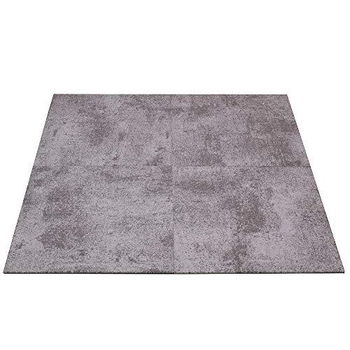 *Objekt Teppichfliesen Beton-Optik Fliese Gewerbe Teppich 50x50cm, Farben:Grau*