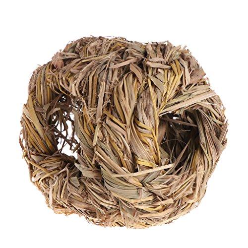 ZOOMY Hamster Nest handgefertigte Natur Gras Spielzeug Käfig Schlafsofas für kleine Tier Tier Chinchilla Meerschweinchen -