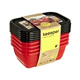 keeeper Cars Frischhaltedosenset 5-teilig, 5 x 500 ml, 15,5 x 10,5 x 6 cm, Iza, Rot Transparent