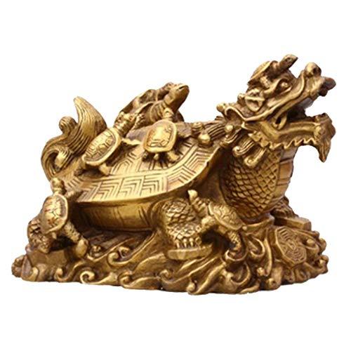 Drachen Schildkröte Statue Figuren Glücksbringer Feng Shui Dekoration Tischdeko ()