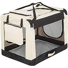 "TecTake Transportín plegable para perros jaula de transporte bolsa viaje 80x55x58cm ""XL"""