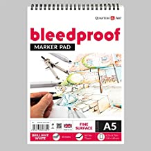 Drawing Bleedproof Fine Surface Pad Artist Paper On Spiral Book - 75gsm (A5-210x148,5 mm)