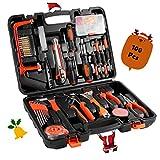 Kit de herramientas, WEIWEITOE 100 piezas de hardware de reparación universal y multifuncional Juego de herramientas de mano para el hogar de bricolaje