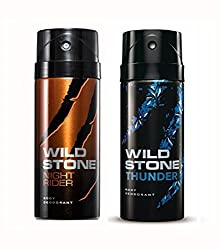 Wild Stone Night Rider And Thunder Deodorant For Men (150 ML)