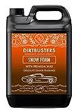 Limpiador de espuma blanca para coche de Dirtbusters, con un gran brillo y encerado, 5 l, limpieza profesional, chocolate y naranja