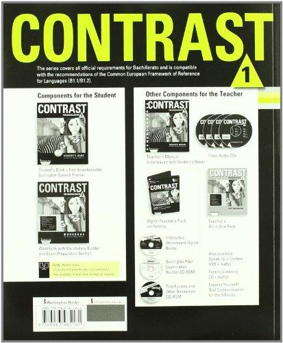 Contrast For Bachillerato 1. Workbook - 9789963485161