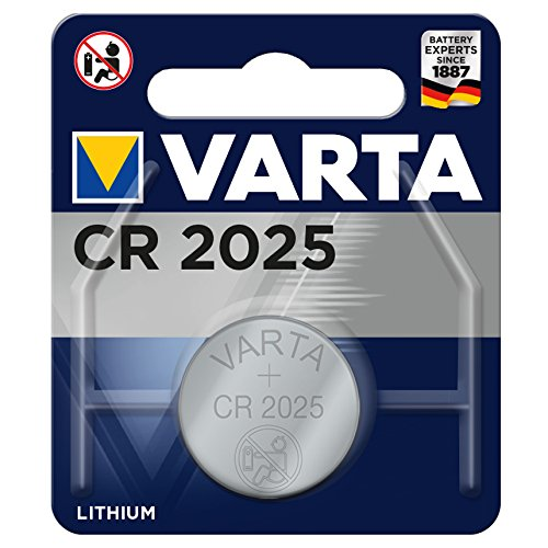 Varta Batterien CR 2025 Lithium Knopfzelle