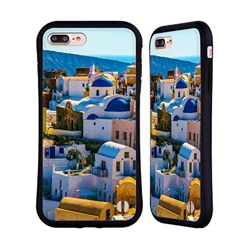 Ufficiale Haroulita Al Mare Architettura Santorini Case Ibrida per Apple iPhone 7 Plus / 8 Plus Chiesa Dom Oia Blu