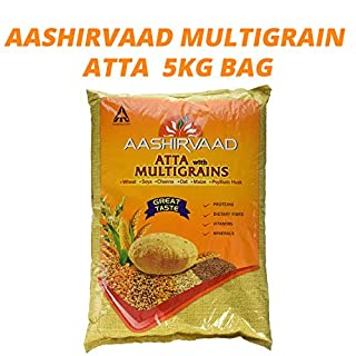 Aashirvaad Multi Grain Atta | Great Taste | Transform Your Rotis | Extra Protein | Grow Strength | Nourishment | Vegetarian | Dietry Fibre | MultiGrains | 5 KG Bag