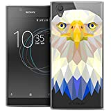 Caseink - Coque Housse Etui pour Sony Xperia XA Ultra 6 [Crystal HD Polygon Series Animal - Rigide - Ultra Fin - Imprimé en France] - Loup