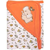 Mee Mee Warm & Soft Wrapper Blanket With Hood (Orange)