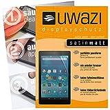uwazi 3X Satin-matt Schutzfolie für Amazon Fire HD 8 (Modell 2017) Bildschirmschutzfolie I Folie I Anti Fingerabdruck I Anti Kratzer