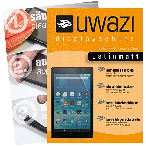 uwazi 3X Satin-matt Schutzfolie für Amazon Fire HD 8 (Modell 2017) Displayschutzfolie I Folie I Anti Fingerabdruck I Anti Kratzer Satin-tab