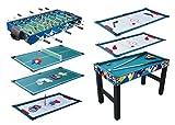 KMH®, Spieltisch 10 in 1 / Multigame Tisch / Multifunktionstisch / Billard / Kicker / Gleithockey / Tischtennis usw. (#800066)