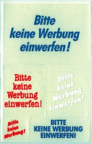 Schmuck-Etikett 76X120Mm Keine Werbung