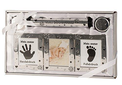 juego-de-bebe-en-plata-inclusive-marco-2-botes-para-dientes-de-leche-y-pelo-tubo-para-documentos-de-