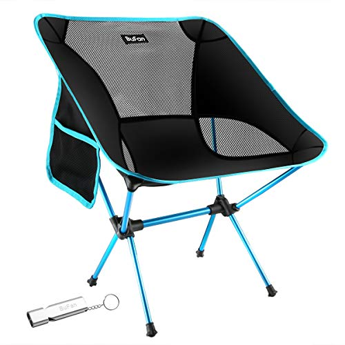 BuFan Silla de Camping Plegable con Bolsa portátil Carga hasta 150 KG, Ideal para acambaca/Senderismo/Viaje/Caza/Pesca