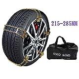 Universal Schneeketten Leicht zu montierende Reifen Schneekette für alle Reifenbreiten 215-285mm (größe : 10 Roots)