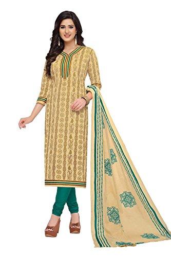 NAI DISHA SALWAR KAMEEZ DRESS MATERIAL-Cream-BAALAR1615-VM-Cotton
