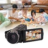 Docooler Andoer Video Camera Home-use DV Upgraded Vision 1080P Full HD with 3.0 Inch Rotating LCD Screen Max. 24 Mega Pixels 16× Digital Zoom