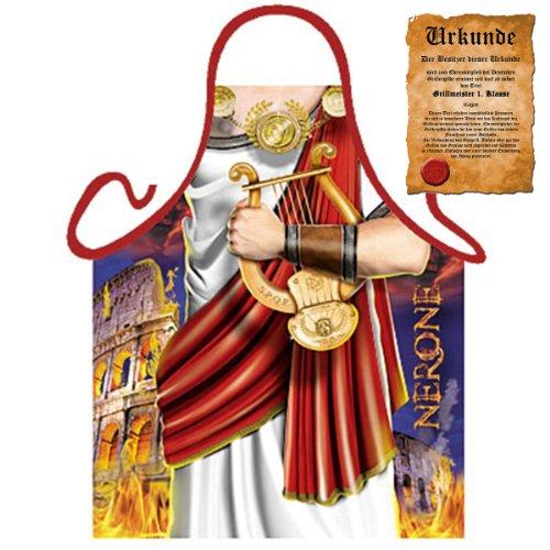 bedruckte Karneval Grillschürze - geiles Motiv: Nero - coole lustige Fasching Party Koch Schürze Fastnacht (Herren-köln Engel)