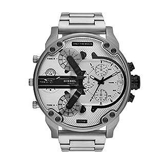 Diesel DZ7421 MR. Daddy 2.0 Chronograph Uhr Herrenuhr 3 bar Analog Datum Silber (B07N34R3PF) | Amazon price tracker / tracking, Amazon price history charts, Amazon price watches, Amazon price drop alerts