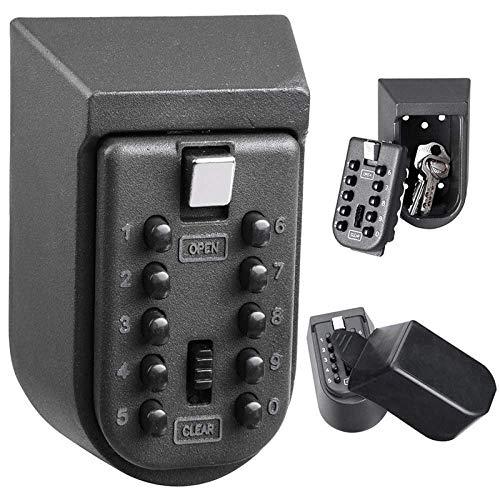 Mini-Schlüsselsafe aus Aluminiumlegierung, zur Wandmontage, Kombination von Password Master Lock Organizer, für Zuhause und Außenbereich, Sicherheitsausrüstung