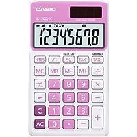 CASIO SL-300NC-PK calcolatrice tascabile - Display a 8 cifre, struttura di colore bianco/rosa - Confronta prezzi