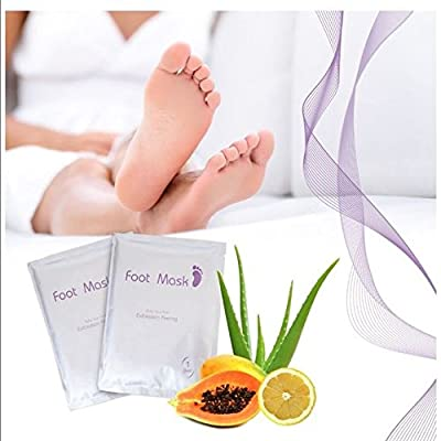 Exfoliating Peel Foot Mask Socks Remove Callus Hard & Dead Skin for Perfect Baby Soft Feet (1 Pair)