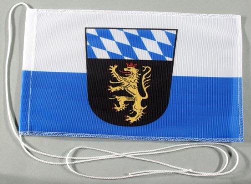Oberbayern Ober Bayern 15x25 cm Tischflagge in Profi - Qualität Tischfahne Autoflagge Bootsflagge Motorradflagge Mopedflagge
