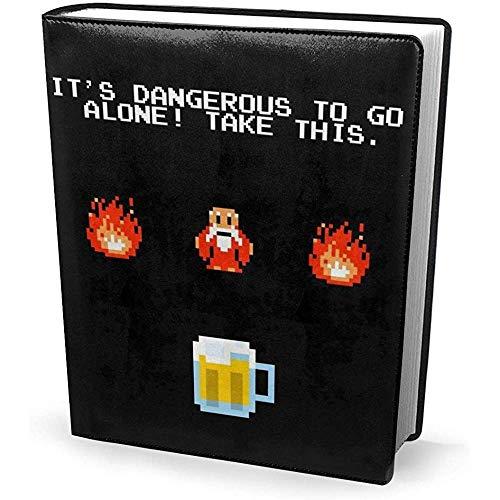 Cubierta de libro de 9x11 pulgadas Es peligroso ir solo Tome esta cerveza Zelda - Estirable lavable reutilizable
