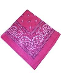 f894831269bc indischerbasar.de - 10 Bandanas foulards carrés Rose Motif Paisley 50x50cm  Coton Accessoire de mode